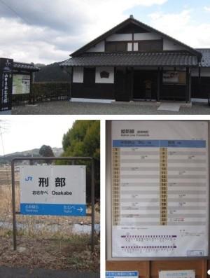 方谷記念館、刑部駅