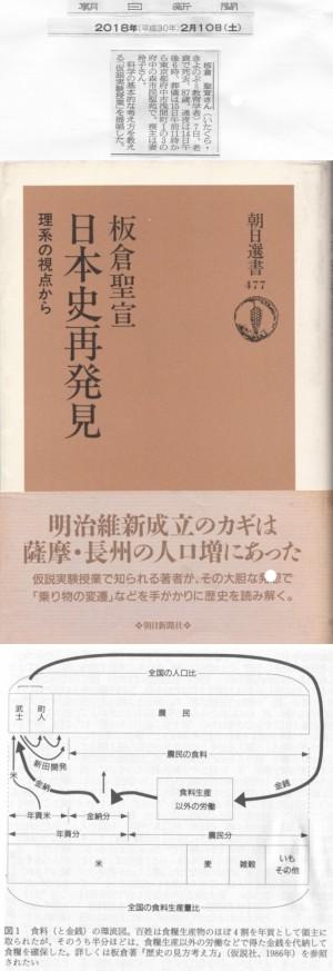 訃報記事、『日本史再発見:理系の視点から』(板倉聖宣/朝日新聞社/1993年)、同書掲載の図表